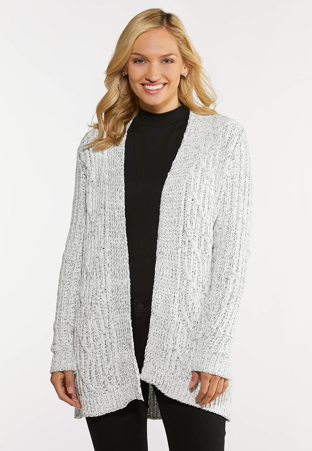 Chenille Cable Cardigan