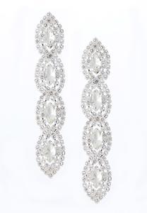 Rhinestone Linear Earrings