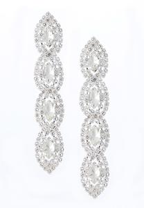 Rhinestone Linear Earrings
