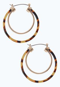 Gold Tortoise Hoop Earrings