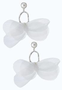 Pearl Chiffon Earrings