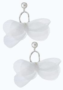Pearl Chiffon Earrings