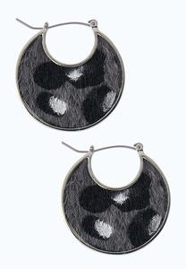 Textured Animal Print Earrings