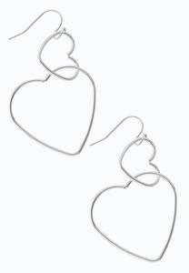 Seeing Double Heart Drop Earrings