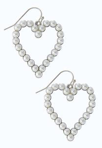 Tiny Pearl Heart Earrings