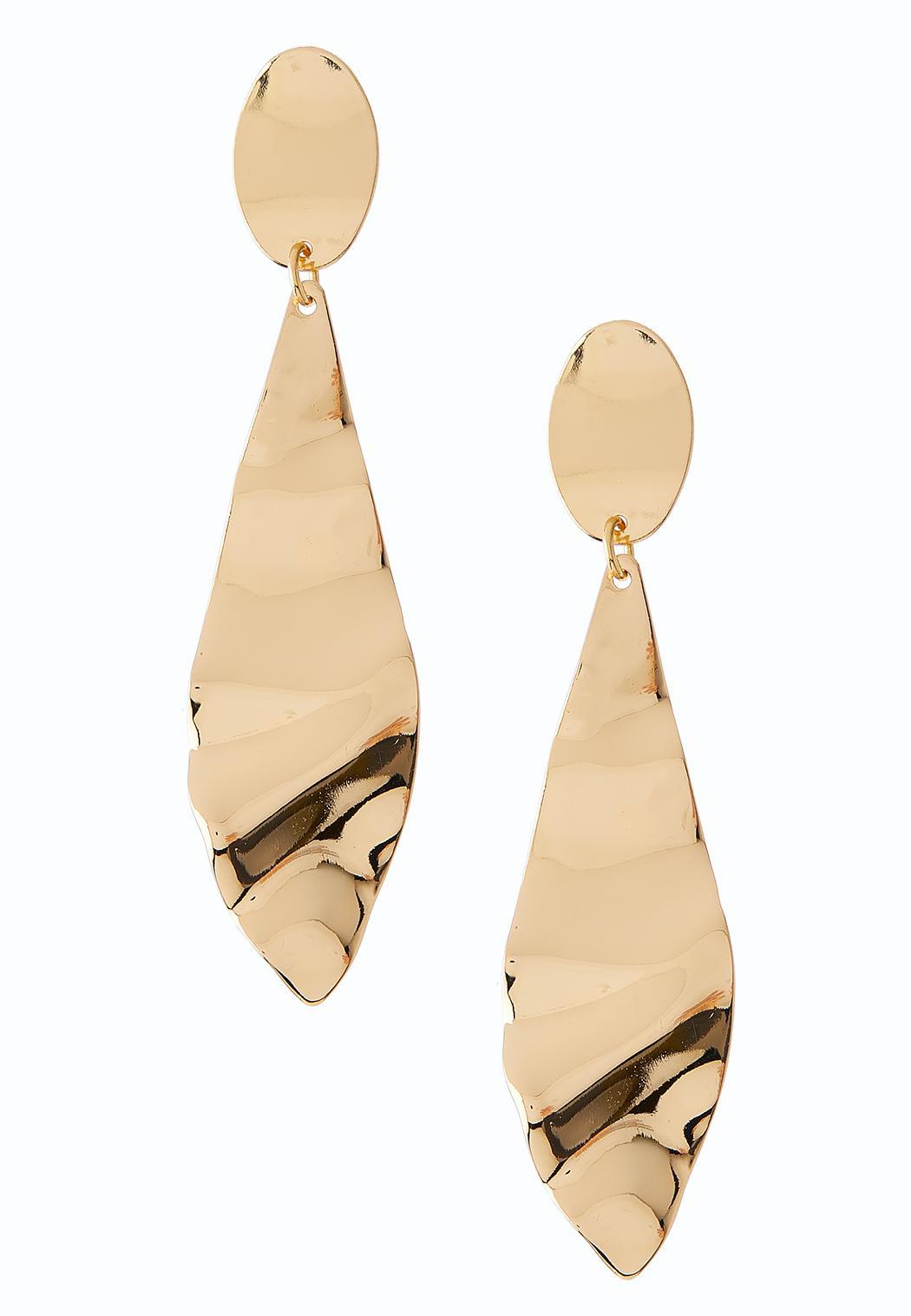 Folded Gold Metal Earrings