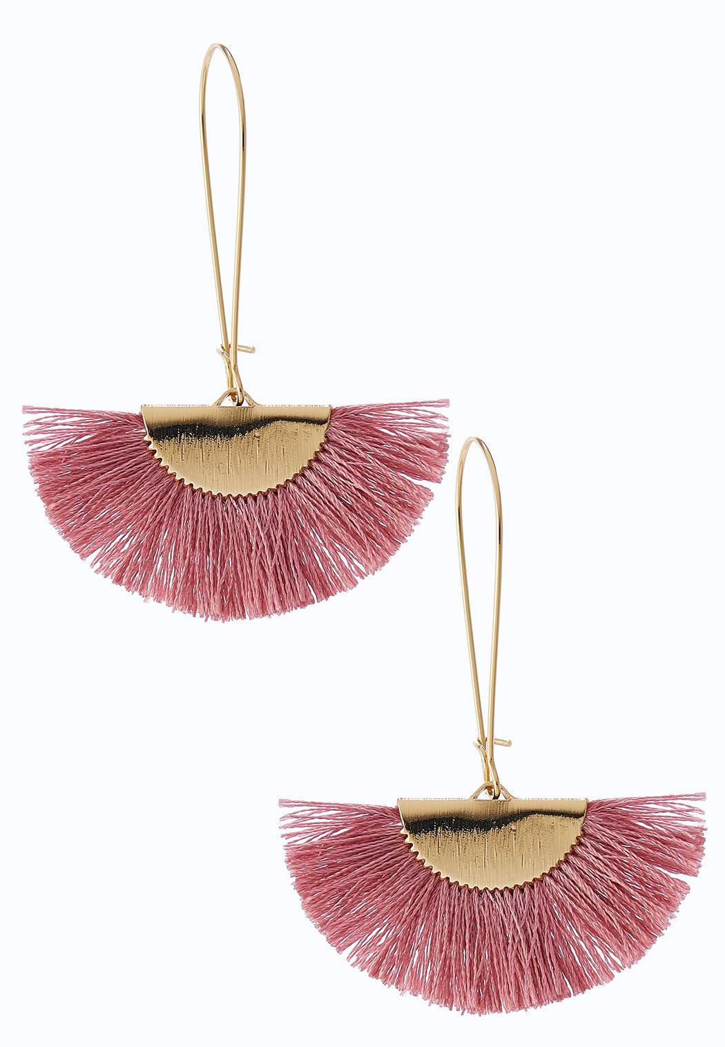 Wispy Tassel Fan Earrings