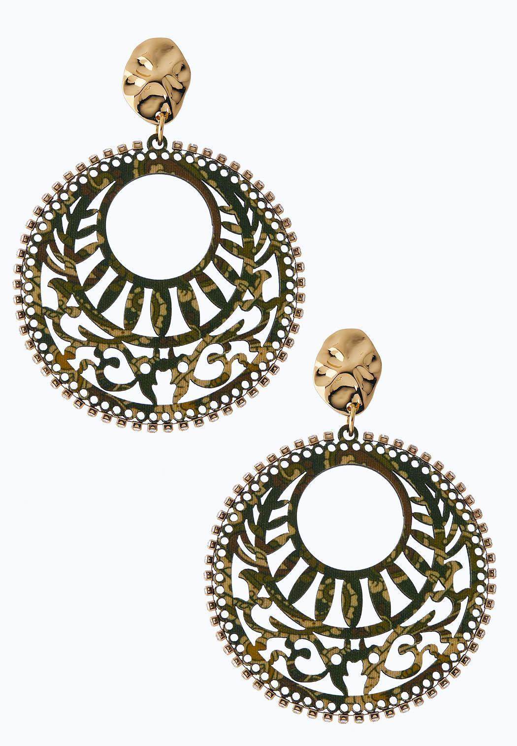 Printed Filigree Earrings