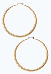 Brushed Gold Hoop Earrings