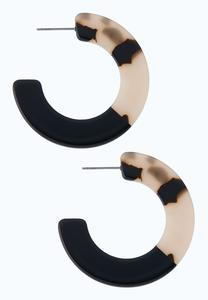 Two-Toned Lucite Hoop Earrings