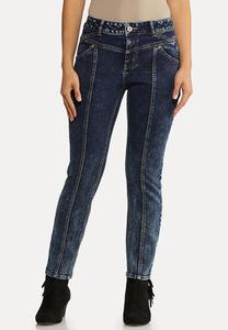Center Seam Acid Wash Jeans