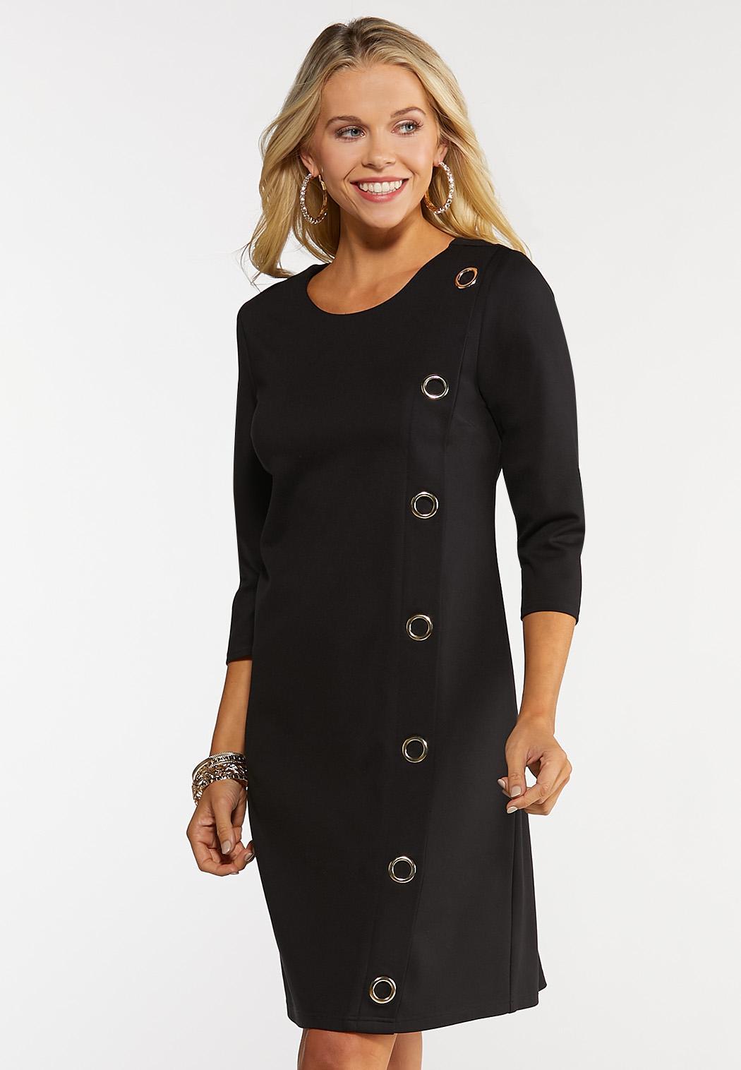 Plus Size Grommet Ponte Dress