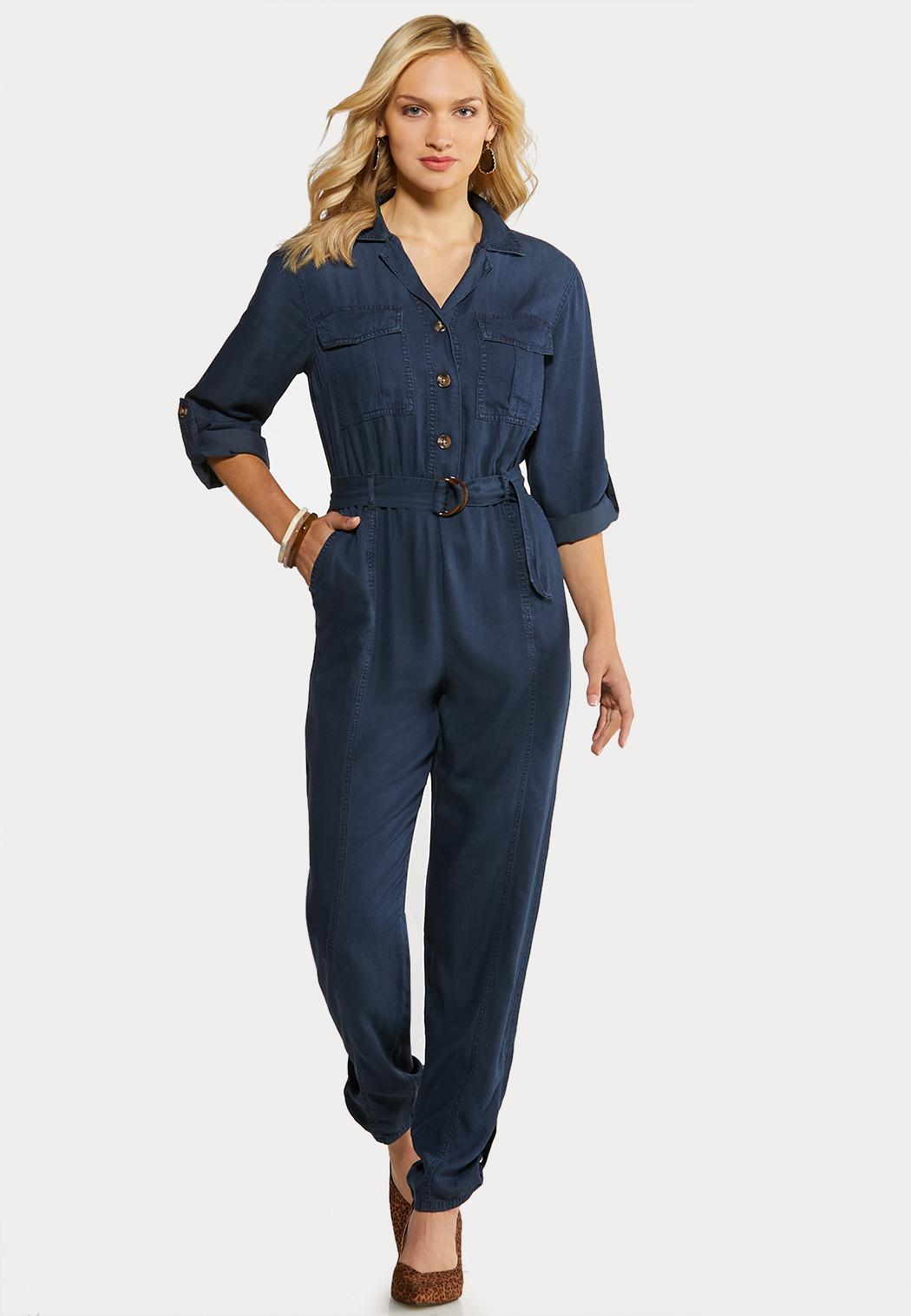Chambray Utility Jumpsuit