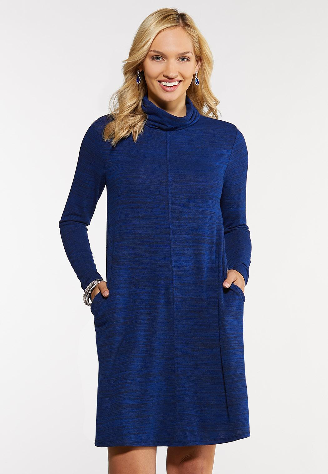 Plus Size Blue Hacci Swing Dress Plus Sizes Cato Fashions