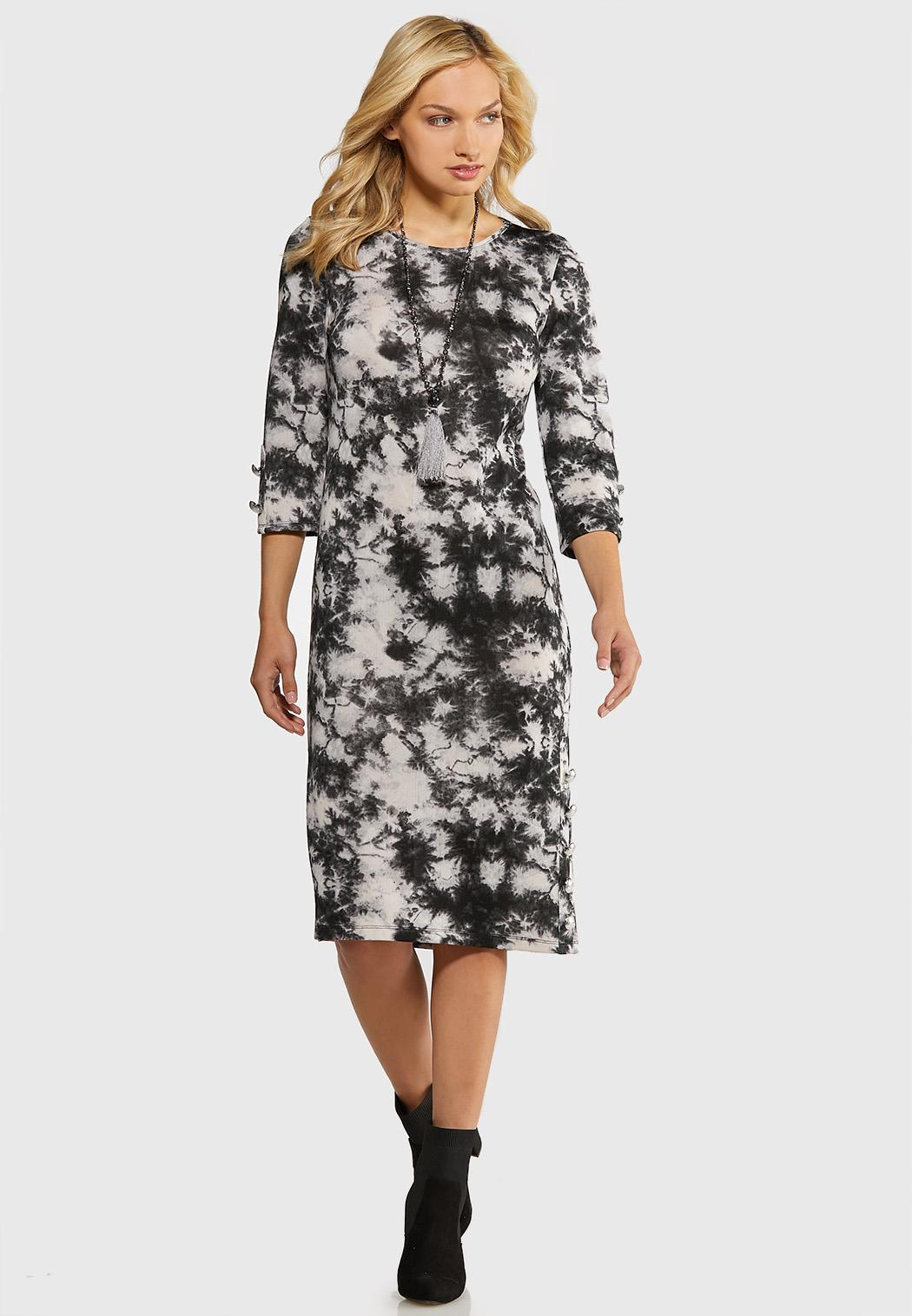 Plus Size Tie Dye Hacci Midi Dress Plus Sizes Cato Fashions