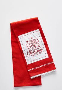 Merry Little Christmas Towel