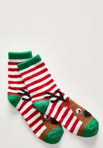 Reindeer Striped Socks