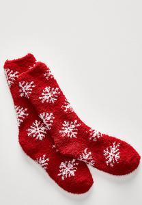 Cozy Snowflake Socks