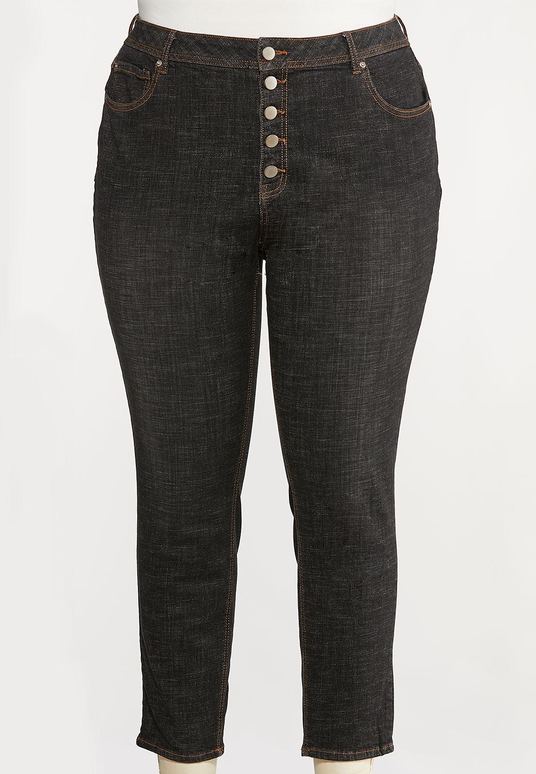 Plus Size Black High Waist Jeans