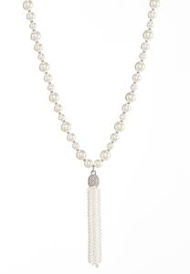 Pearl Tassel Necklace