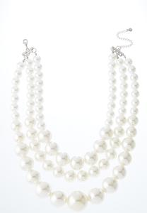 Layered Chunky Pearl Necklace