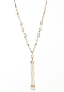 Pretty Pearl Tassel Necklace
