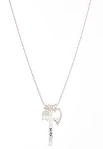 Faith Multi Charm Necklace