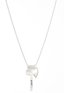Faith Multi Charm Necklace