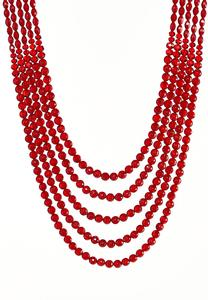 Multi Layer Long Beaded Necklace