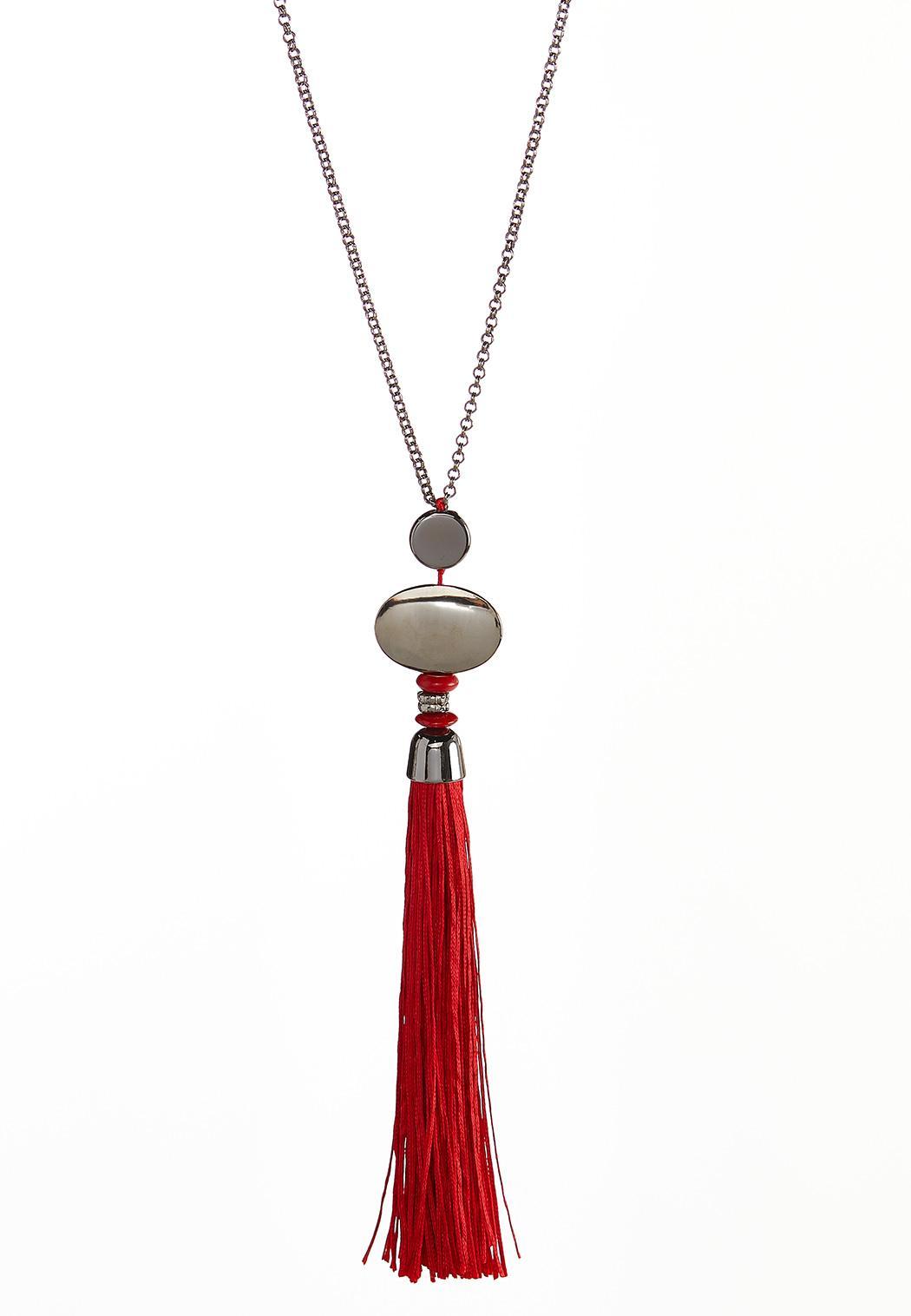 Long Tassel Pendant Necklace