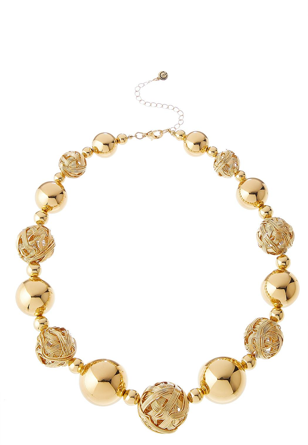 Mixed Gold Ball Necklace
