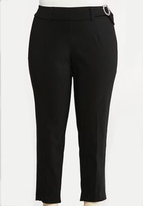 Plus Size Bling Ring Black Pants