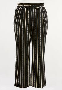 Plus Size Rodeo Stripe Paperbag Pants