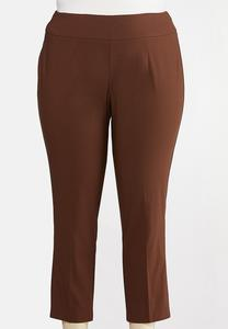 Plus Size Bengaline Ankle Pants