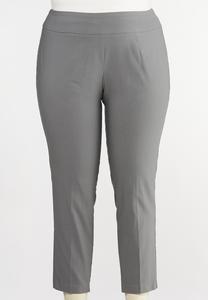 Plus Size Bengaline Ankle Pants