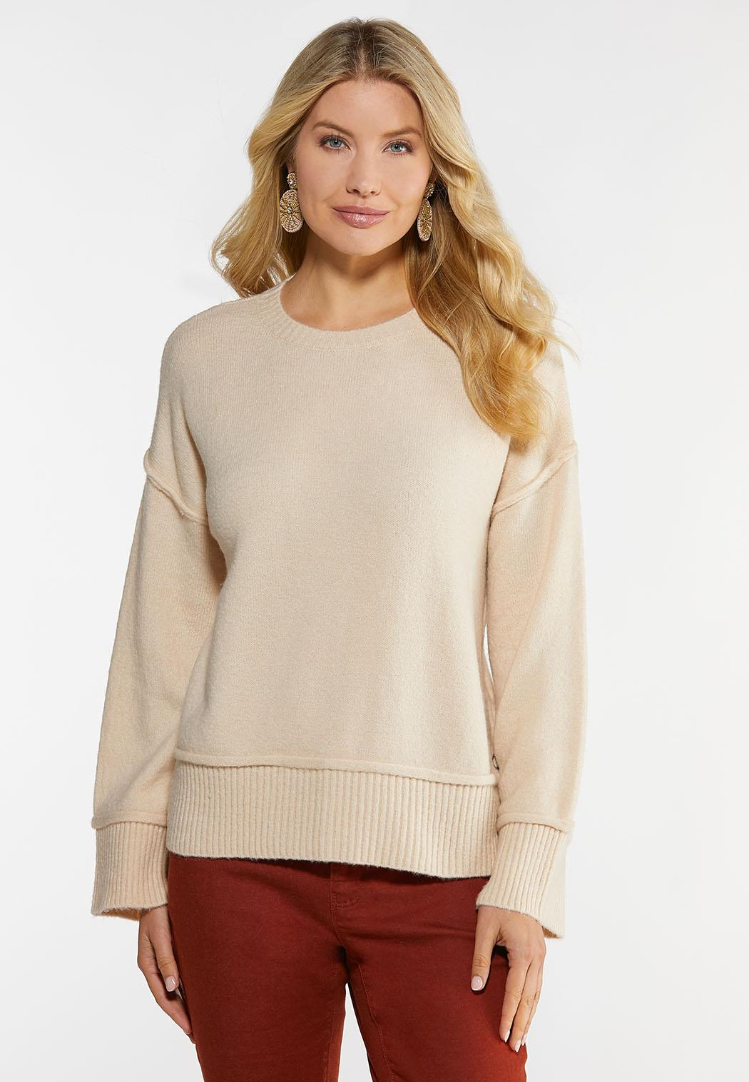Plus Size Snap Embellished Sweater