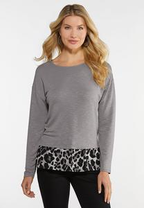Plus Size Leopard Back top