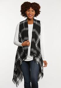 Plus Size Winter Plaid Vest