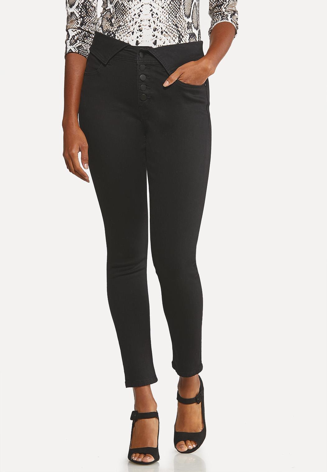 Fold Over Skinny Jeans