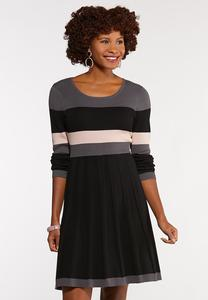 Colorblock Sweater Dress