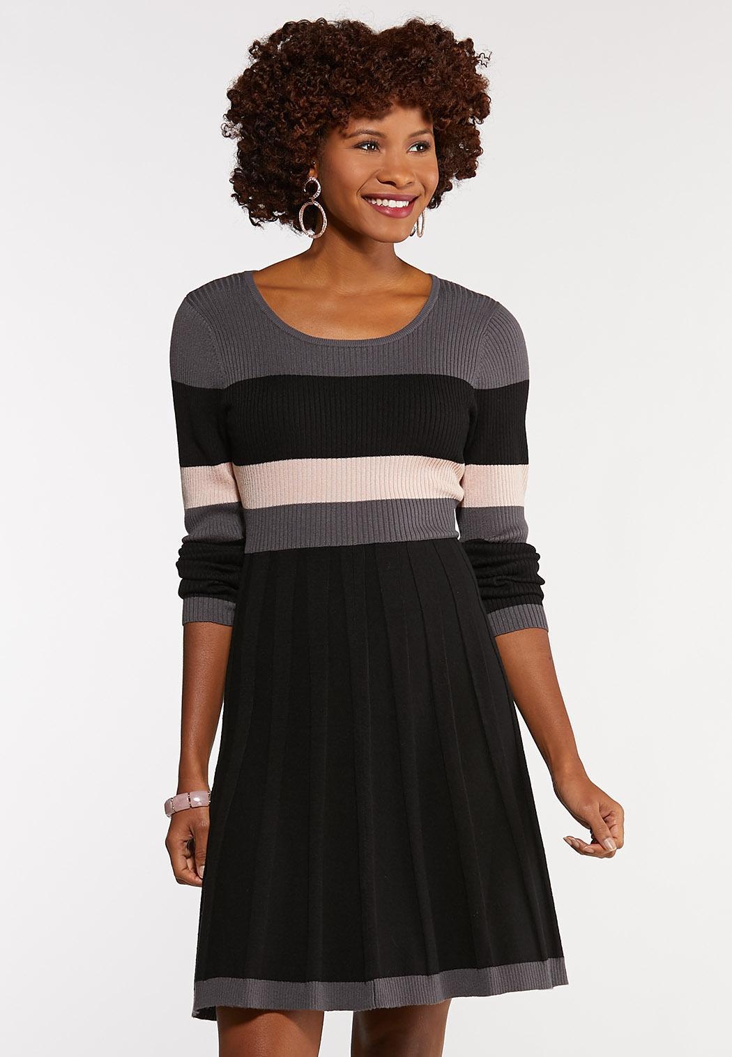 Plus Size Colorblock Sweater Dress Plus Sizes Cato Fashions