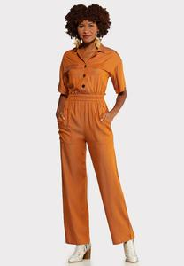 Copper Cinched Waist Jumpsuit