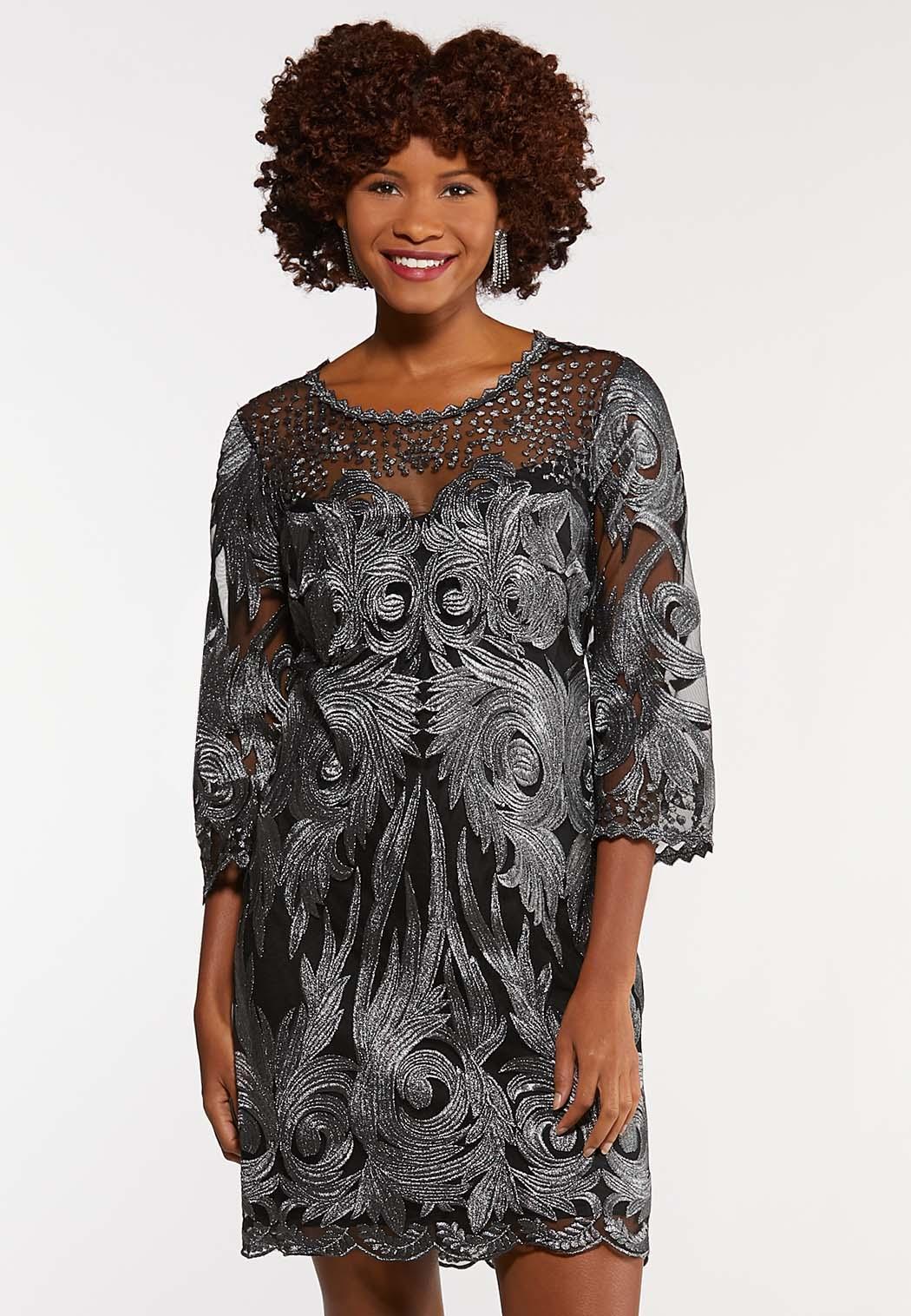 Shimmer Lace Sheath Dress