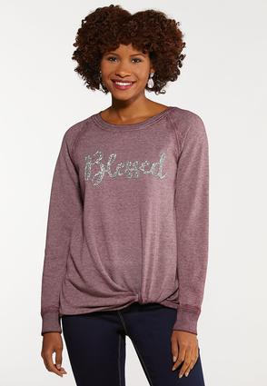 Plus Size Blessed Bling Top
