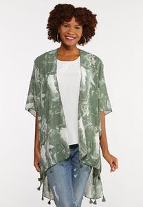 Marble Tasseled Kimono