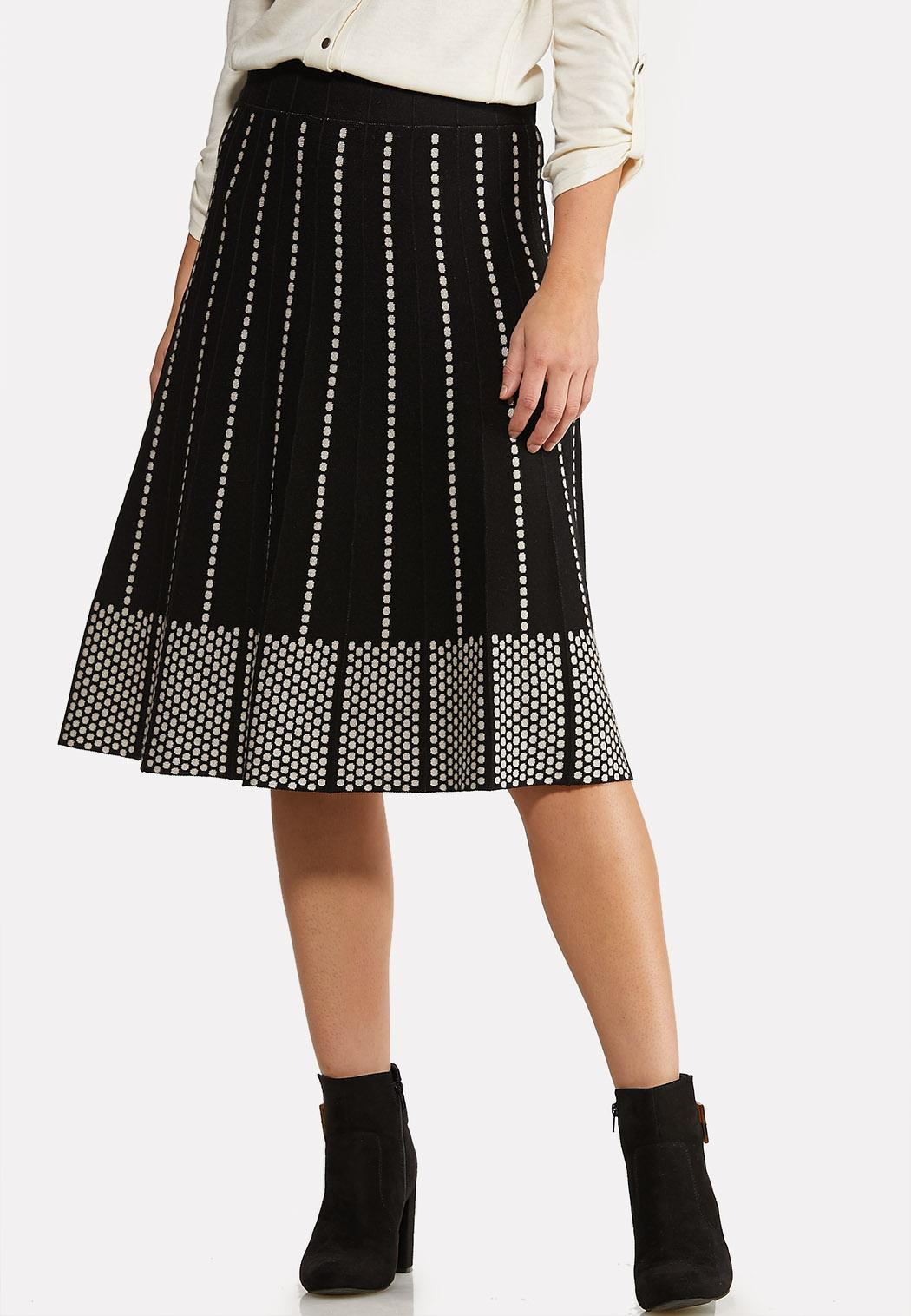 Dotted A-line Sweater Skirt