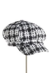 Metallic Tweed Cabbie Hat