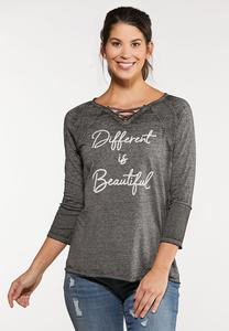 Plus Size Different Is Beautiful Top