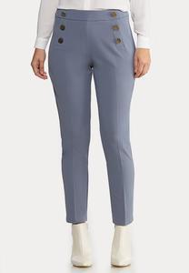 Silver Button Pants