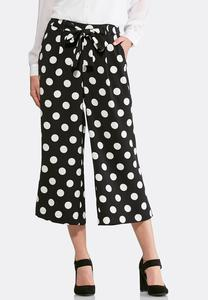 Polka Dot Cropped Pants